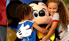 Hugging Mickey Mouse